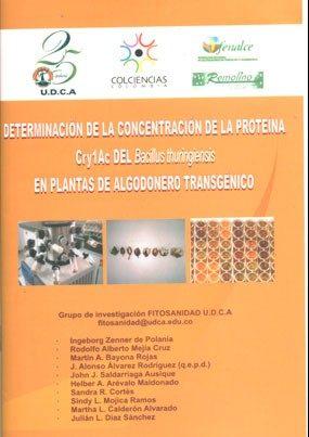 Determinación de la concentración de la proteína Cry 1Ac del Bacillus thuringiensis en plantas de algodonero transgénico